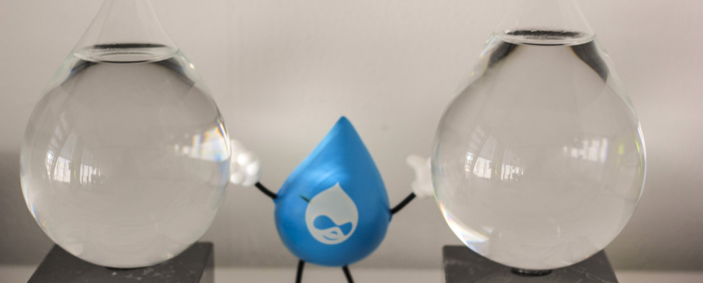 Splash Awards met Drupal poppetje ertussen